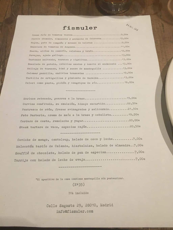 carta,fismuler,restaurante,madrid