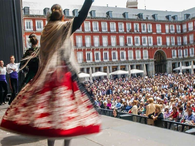 plaza mayor, san isidro 2017, danza madrileña
