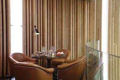 detalle de mesa en restaurante arriba de platea madrid