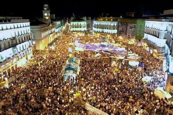 Puerta, del,sol,15m,manifestación,madrid