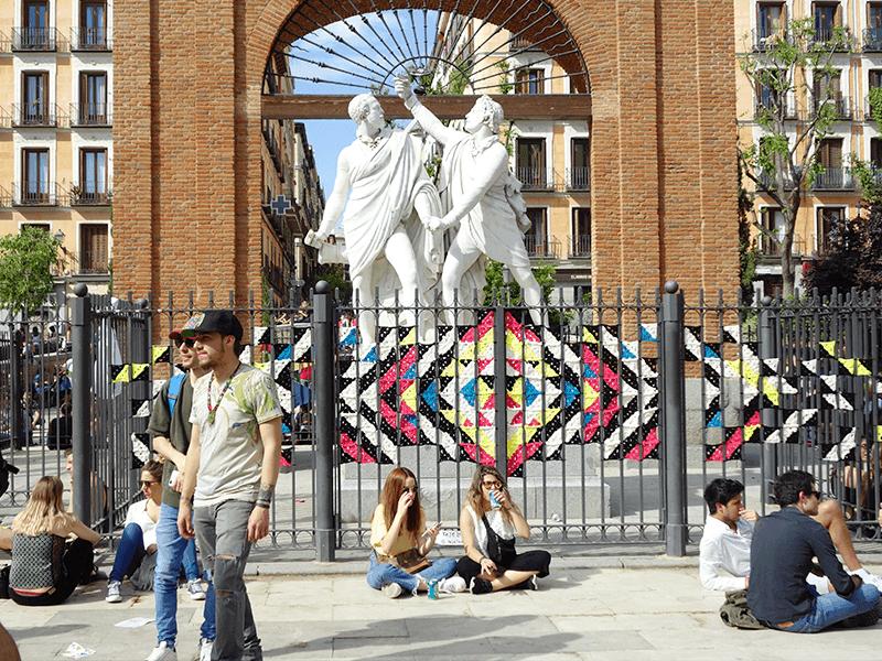 Pinta Malasaña, Malasaña, Plaza del Dos de Mayo, Dos de Mayo, Madrid