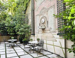 jardin del hotel orfila donde celebrar Día de la madre en Madrid
