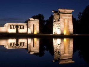 Templo de Debod, Madrid de los Austrias, Debod, Plaza de Oriente, Madrid