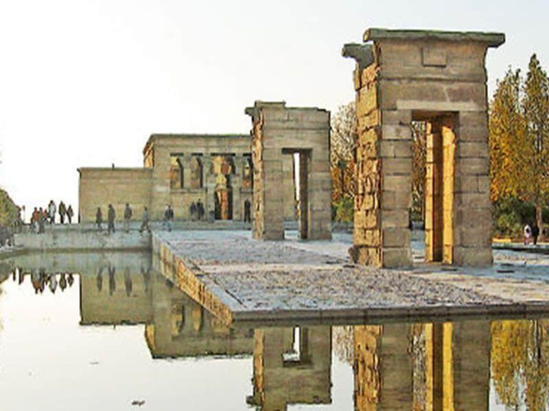templo de debod, madrid, parque del oeste