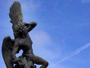 ángel caído, parque del retiro, madrid