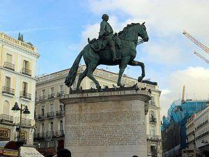 Puerta del Sol, Carlos III, Estatua, Alcalde, Emperador, Madrid, Ecuestre