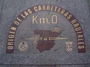 Puerta del Sol, Madrid, Kilómetro Cero, Punto de referencia, Carreteras