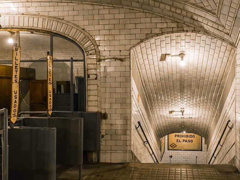 Chamberí, estación, metro, museo, Andén 0
