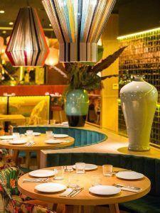 turismo, buda, feliz, china, restaurante