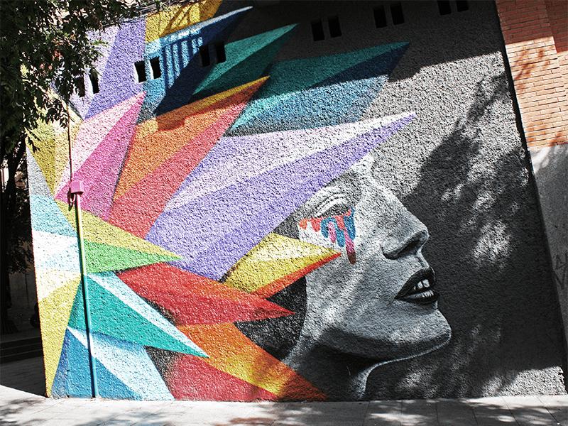 Arte urbano, arte, Madrid, La Tabacalera, Metro Madrid, La Neomudéjar, El campo de la Cebada, La Latina