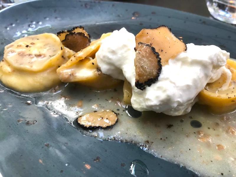Ravioli del restaurante italiano Sottosopra