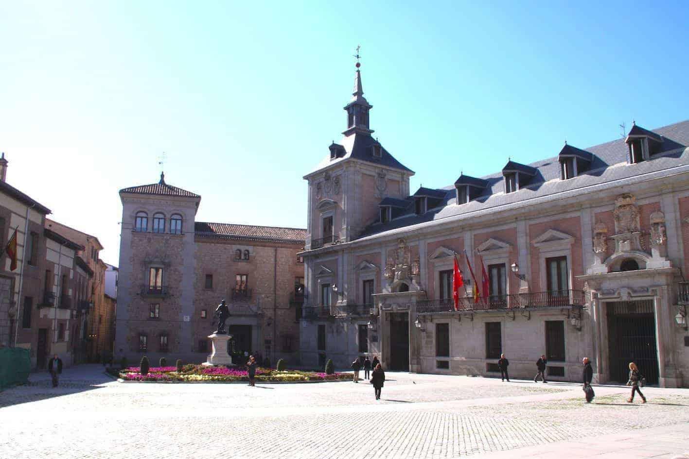 plaza de la villa, antiguo ayuntamiento de madrid